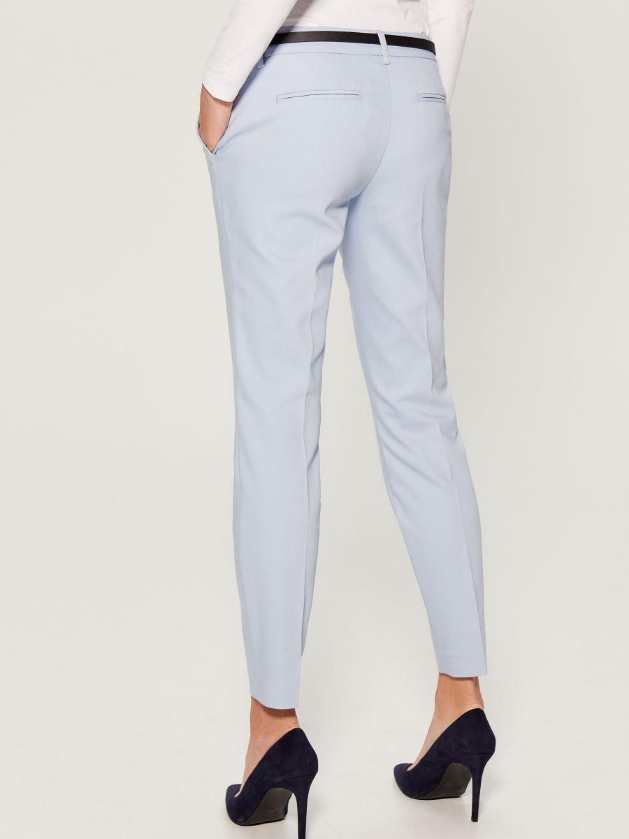 Cigarette pants with belt - blue - UN362-05X - Mohito - 4