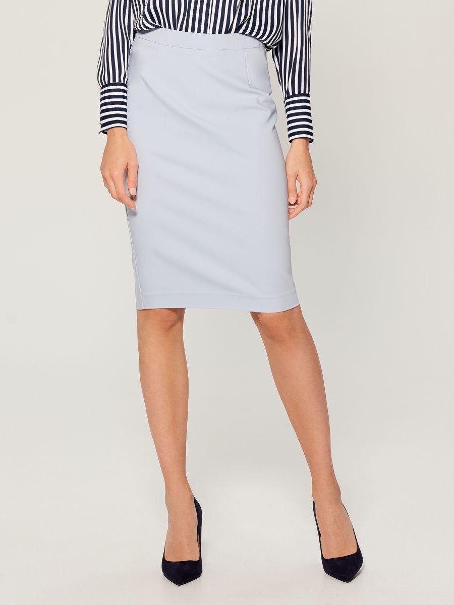 Pencil midi skirt - blue - UN363-05X - Mohito - 2
