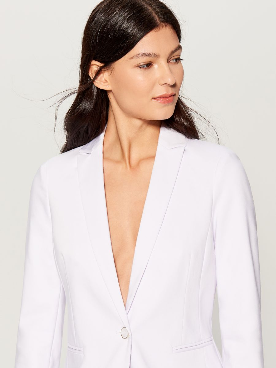 Classic jacket - white - UN364-00X - Mohito - 3