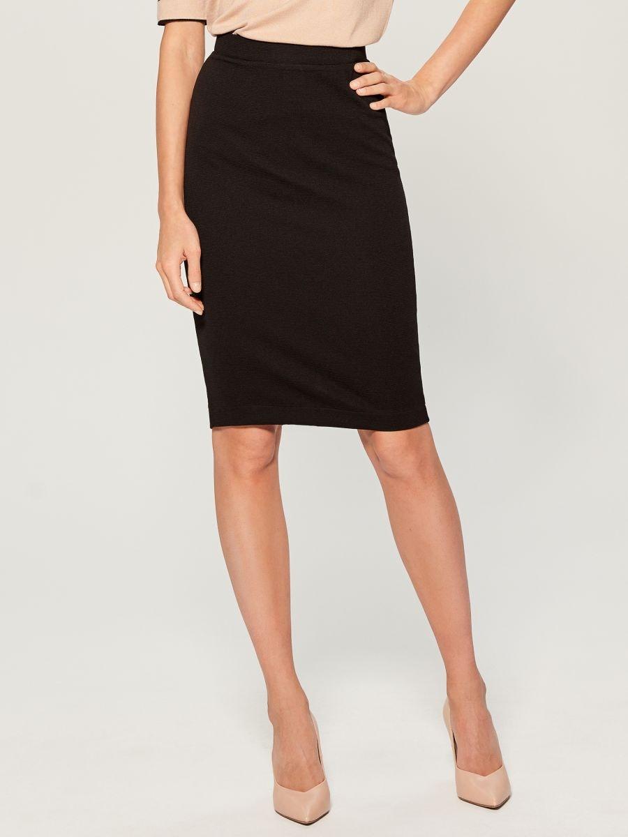 High waisted pencil skirt - black - UN421-99X - Mohito - 1