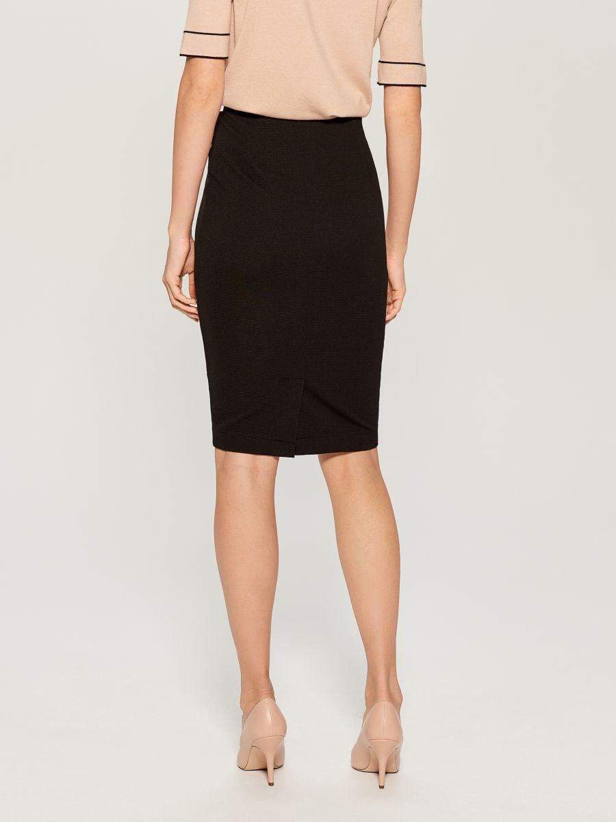 High waisted pencil skirt - black - UN421-99X - Mohito - 4