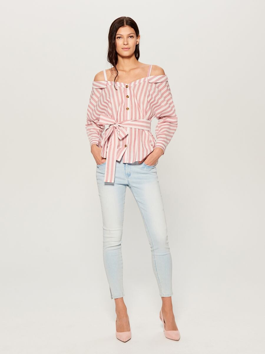 Skinny fit jeans - blue - UR495-05J - Mohito - 1