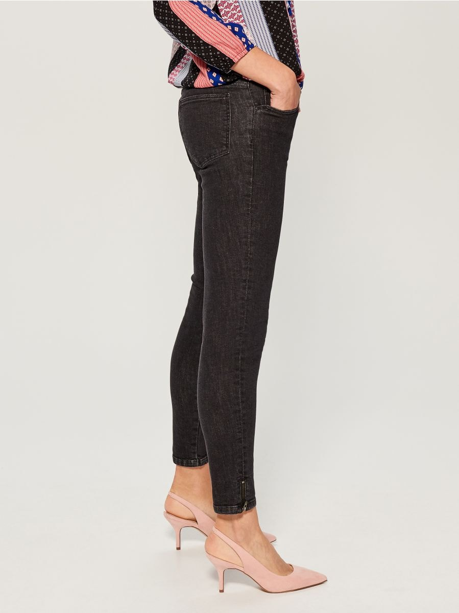 Skinny fit jeans - black - UR495-99X - Mohito - 1