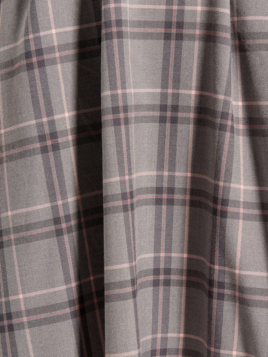 Midi dress with tie waist - grey - UX457-09P - Mohito - 5