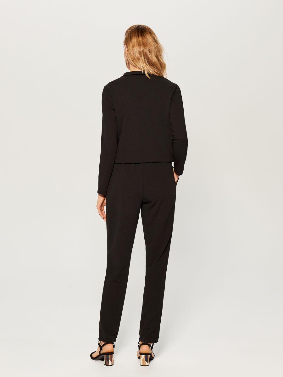 Wrap front jumpsuit - black - UY890-99X - Mohito - 4