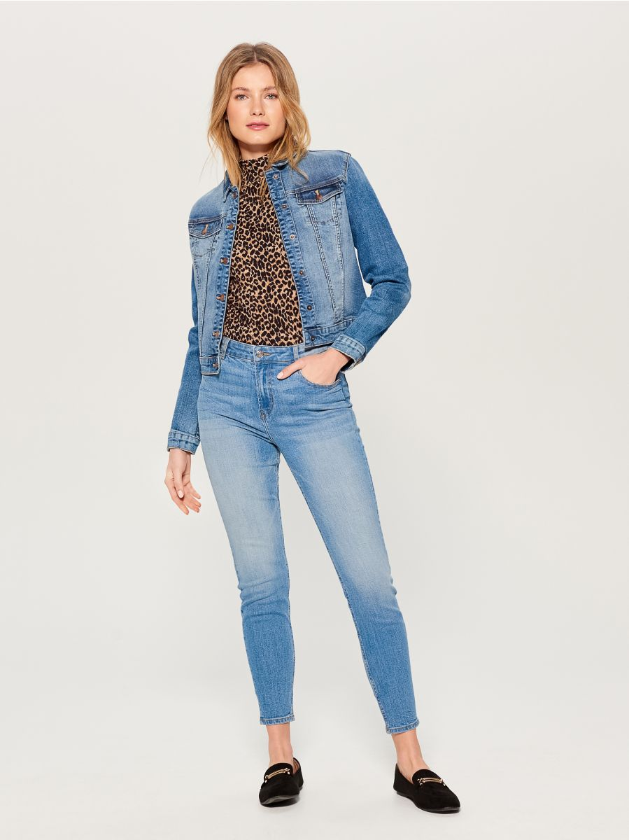 High waist skinny fit jeans - blue - VC490-50J - Mohito - 1