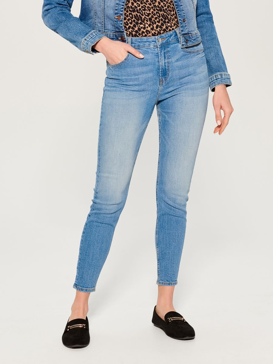 High waist skinny fit jeans - blue - VC490-50J - Mohito - 2