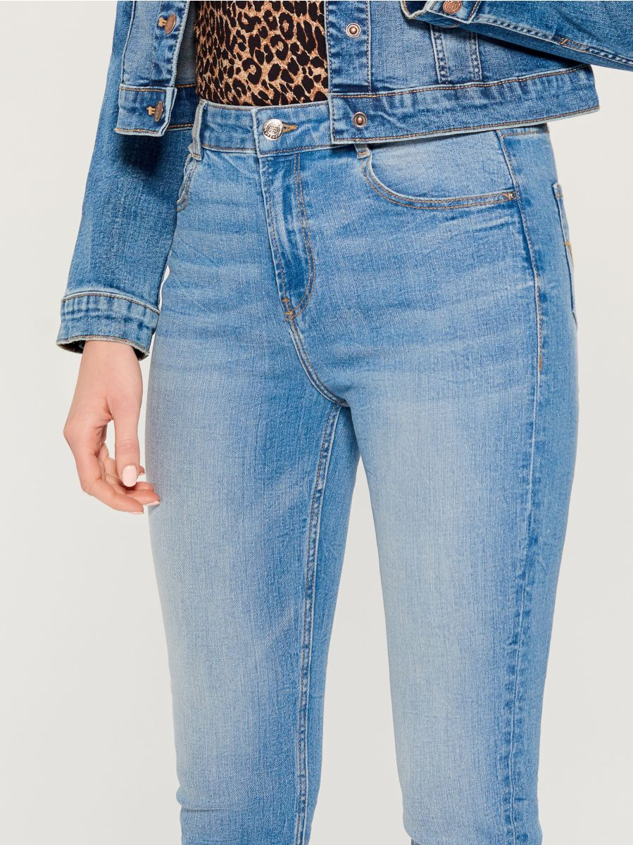 High waist skinny fit jeans - blue - VC490-50J - Mohito - 3