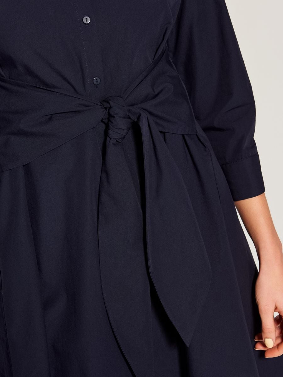 Shirt dress with tie - blue - VD247-95P - Mohito - 3
