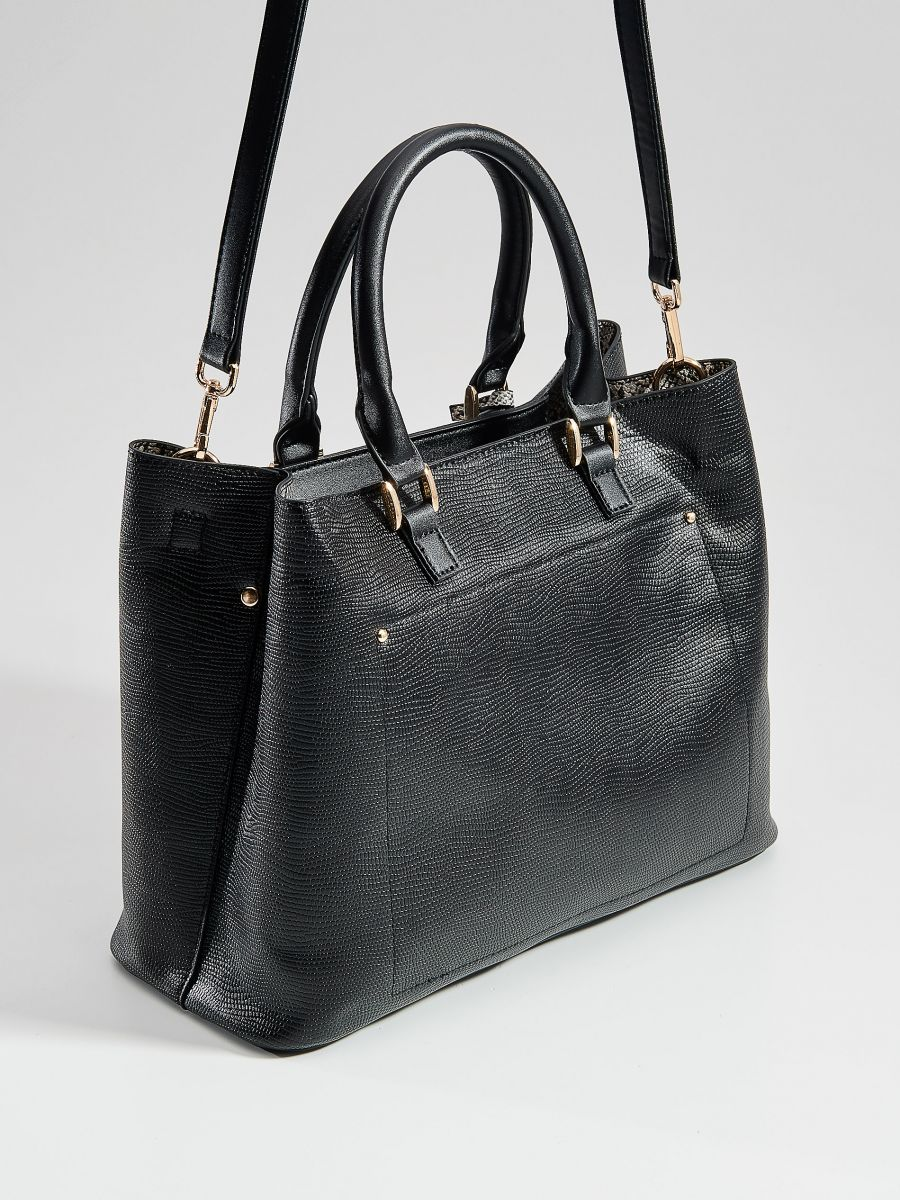 City bag with key chain - black - VE359-99X - Mohito - 2