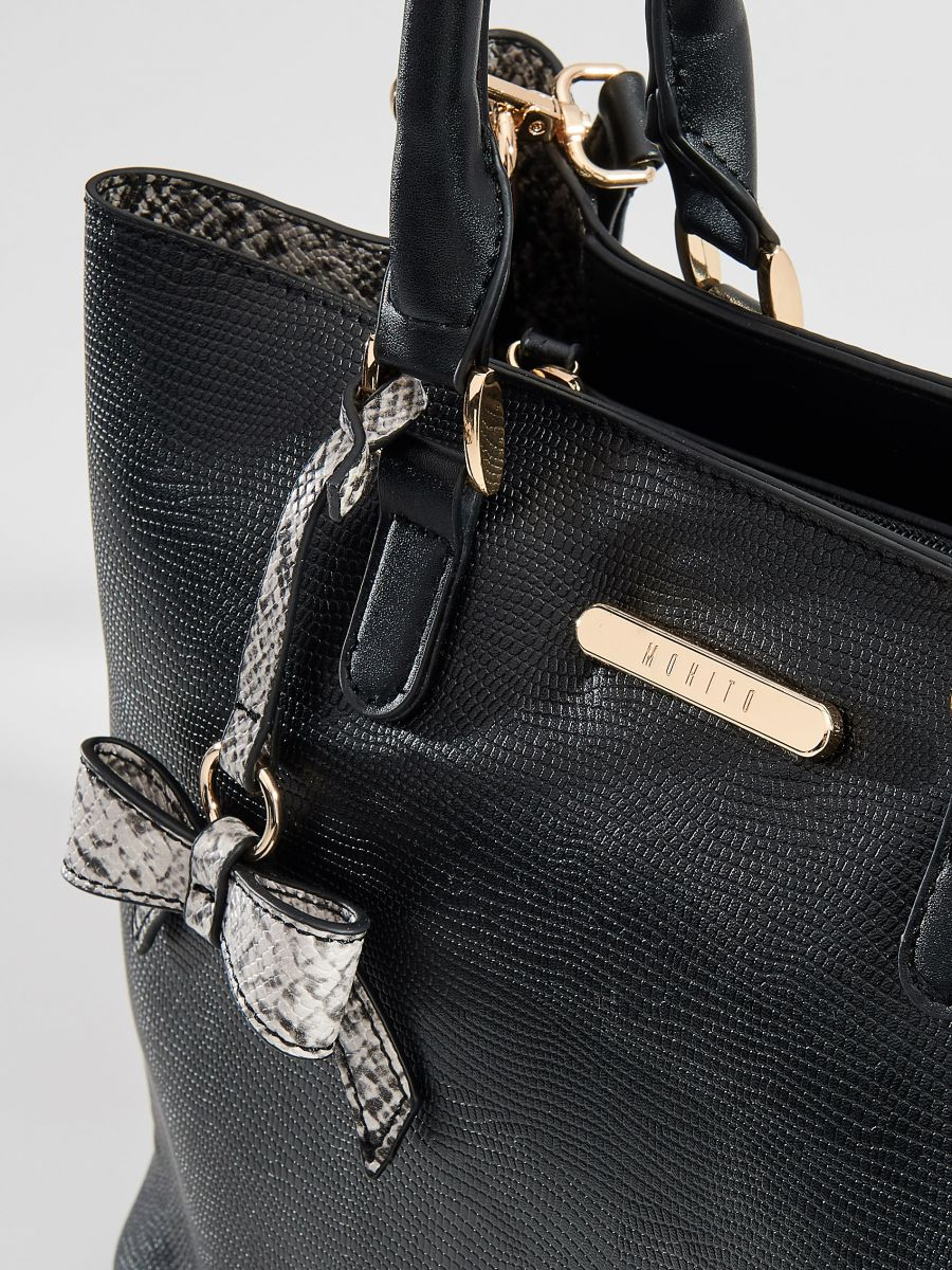 City bag with key chain - black - VE359-99X - Mohito - 4