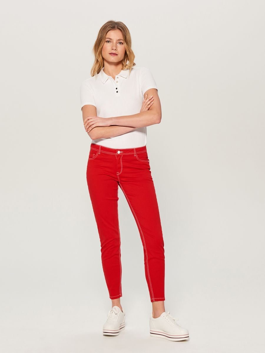 Skinny fit jeans - red - VG900-33J - Mohito - 2
