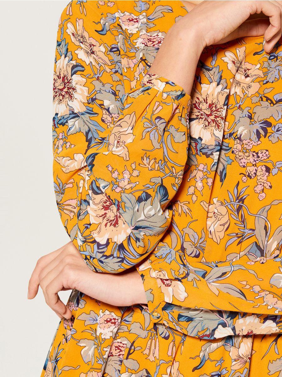 Patterned long sleeve dress - yellow - VJ592-17P - Mohito - 3