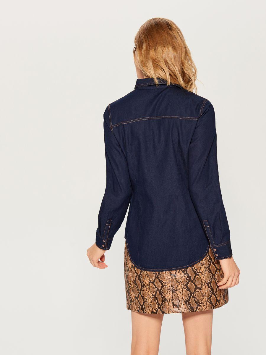 Denim shirt - blue - VM575-95X - Mohito - 4