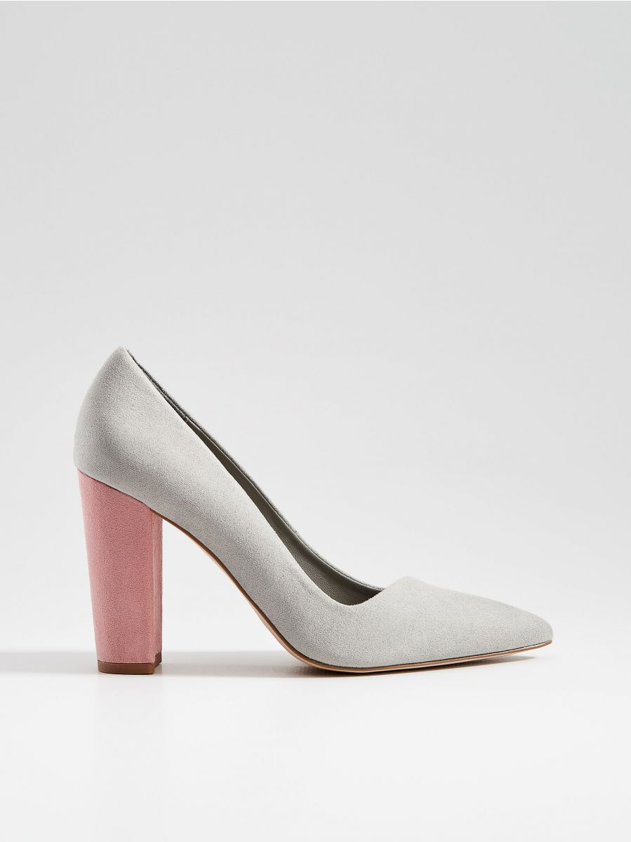 Chunky heel pumps - light grey - VN950-09X - Mohito - 1