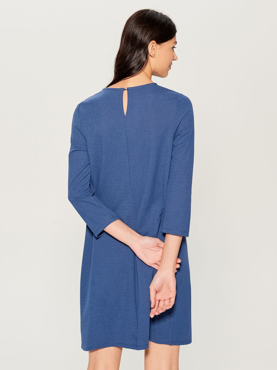 Dress with jewellery detail - blue - VO005-50X - Mohito - 4