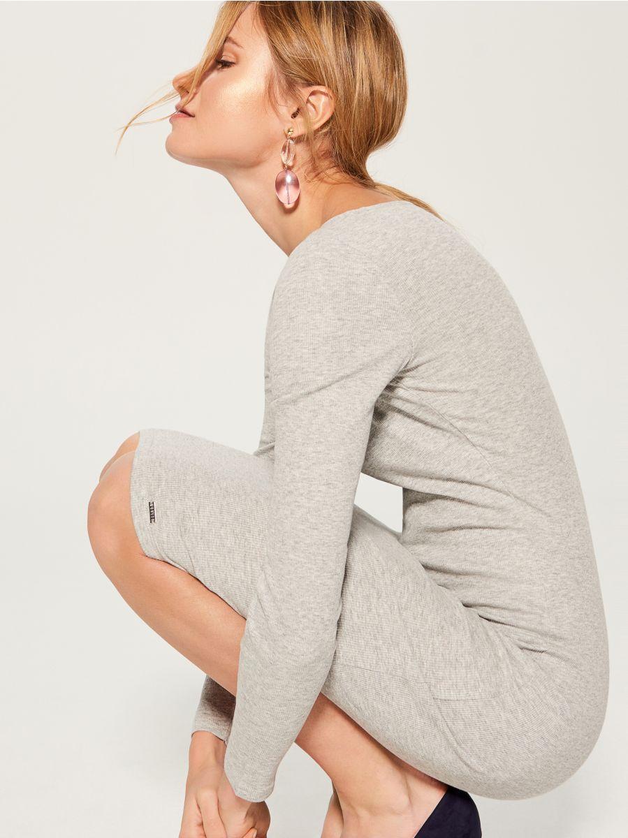 Fitted midi dress - grey - VO006-90X - Mohito - 1