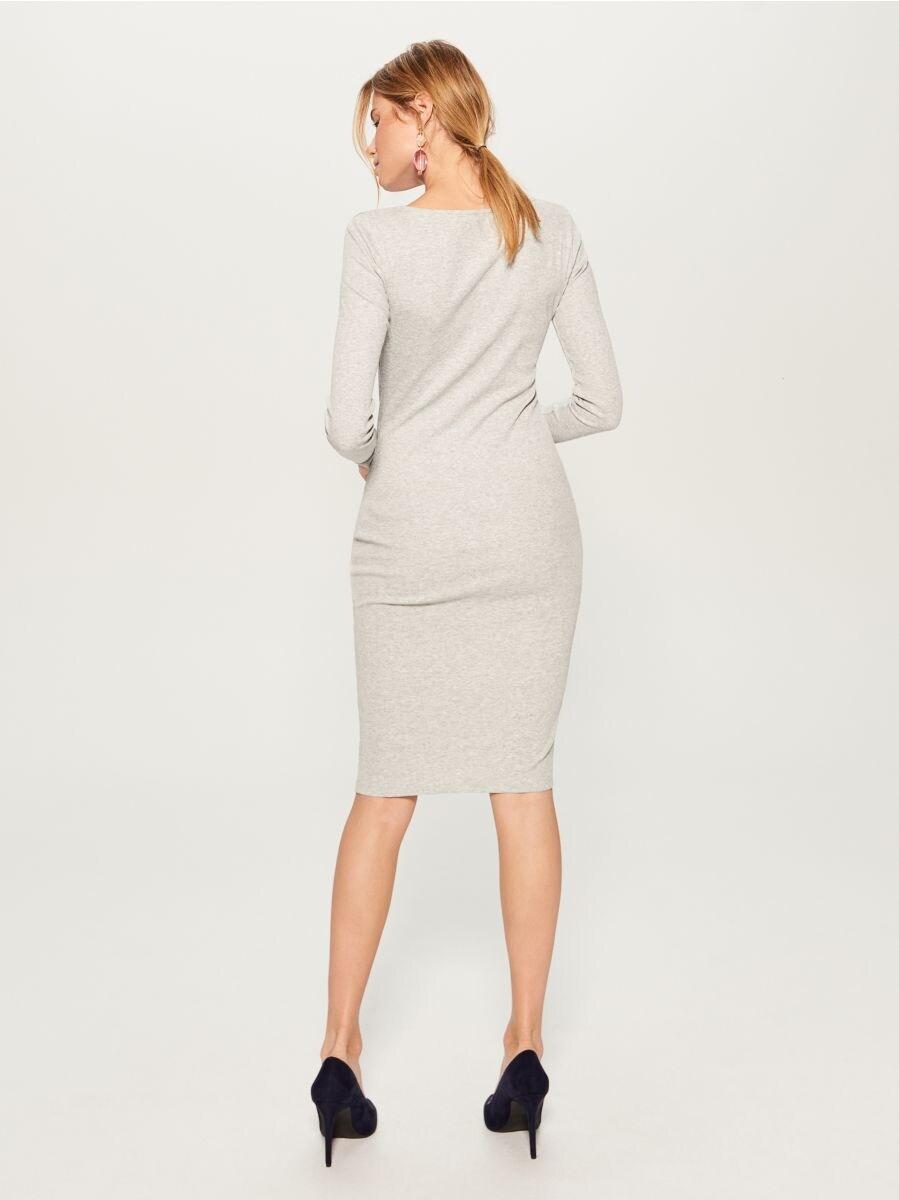 Fitted midi dress - grey - VO006-90X - Mohito - 4