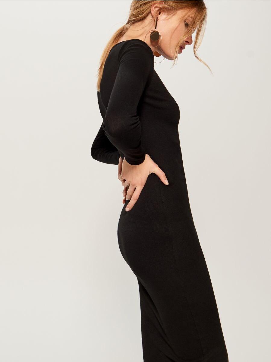 Fitted midi dress - black - VO006-99X - Mohito - 1