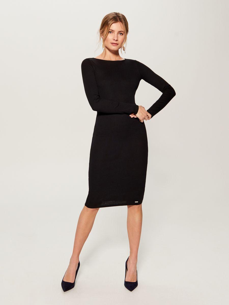 Fitted midi dress - black - VO006-99X - Mohito - 2