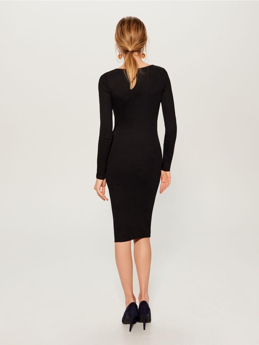 Fitted midi dress - black - VO006-99X - Mohito - 4