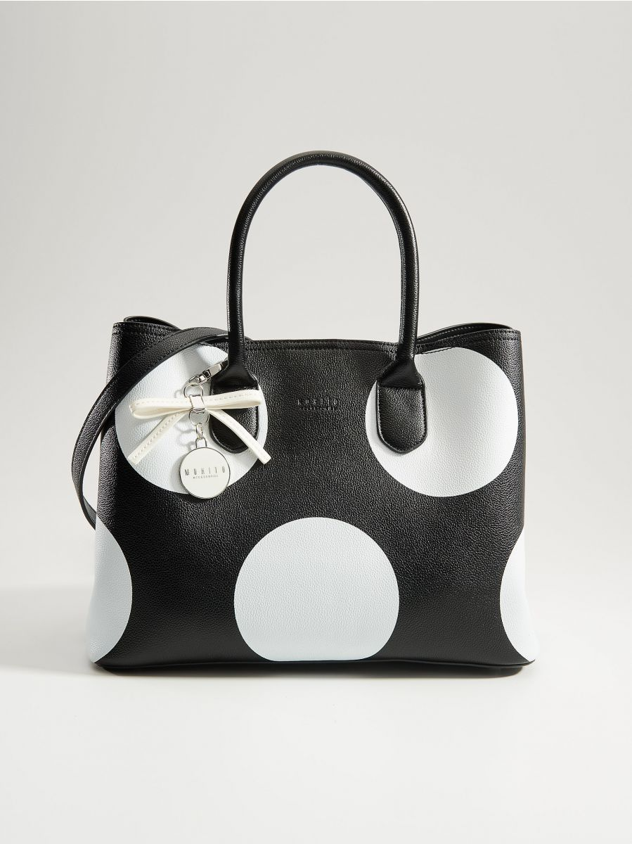 Shopper bag with keyring - black - VP617-99X - Mohito - 1