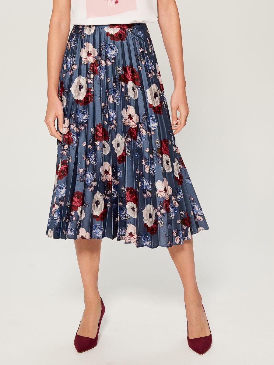 Pleated midi skirt - multicolor - VQ269-MLC - Mohito - 1