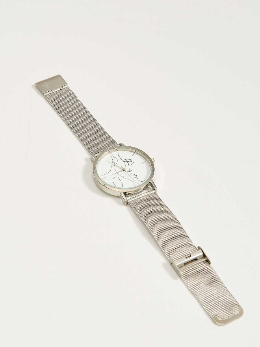 Watch with decorative face - silver - VR133-SLV - Mohito - 2