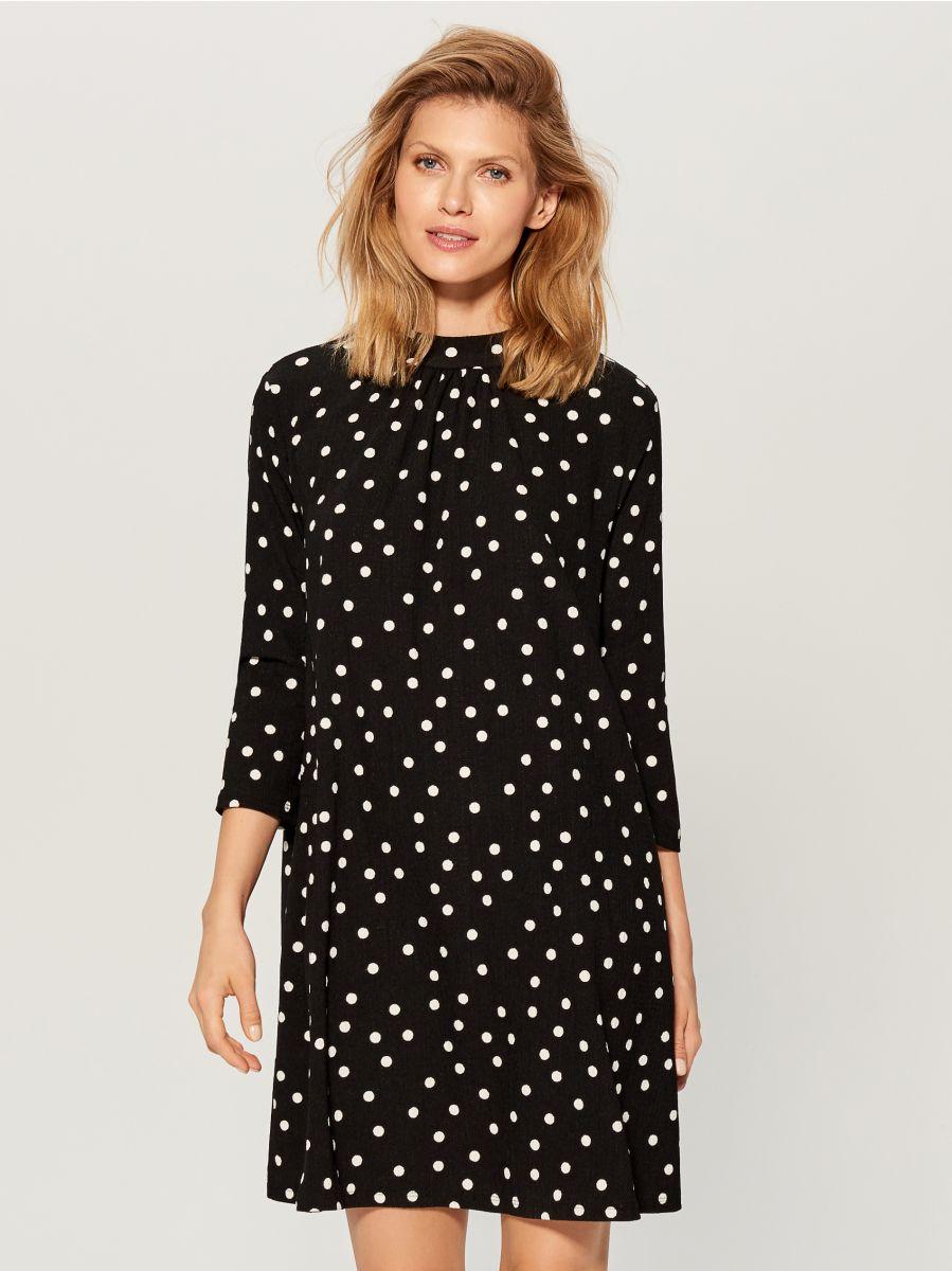 Dress with V back - black - VS323-99P - Mohito - 2