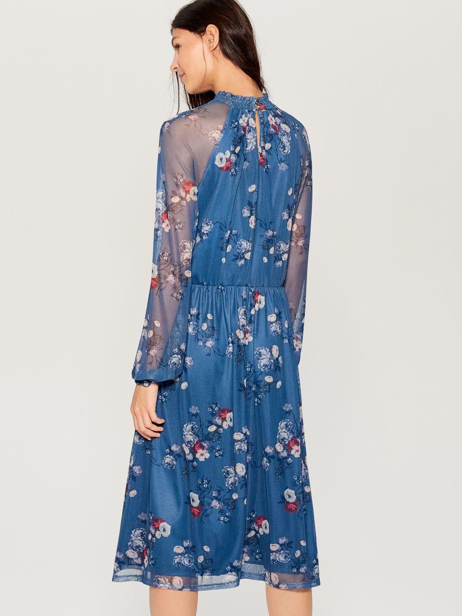 Chiffon floral dress - blue - VS324-50P - Mohito - 4