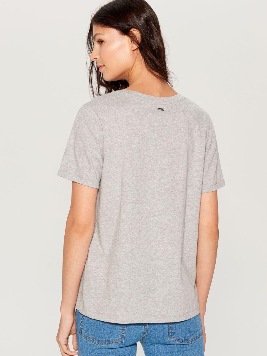 Cotton T-shirt - light grey - VS422-09X - Mohito - 3
