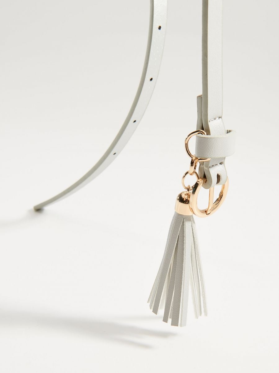 Belt with tassel detail - light grey - VS545-09X - Mohito - 2