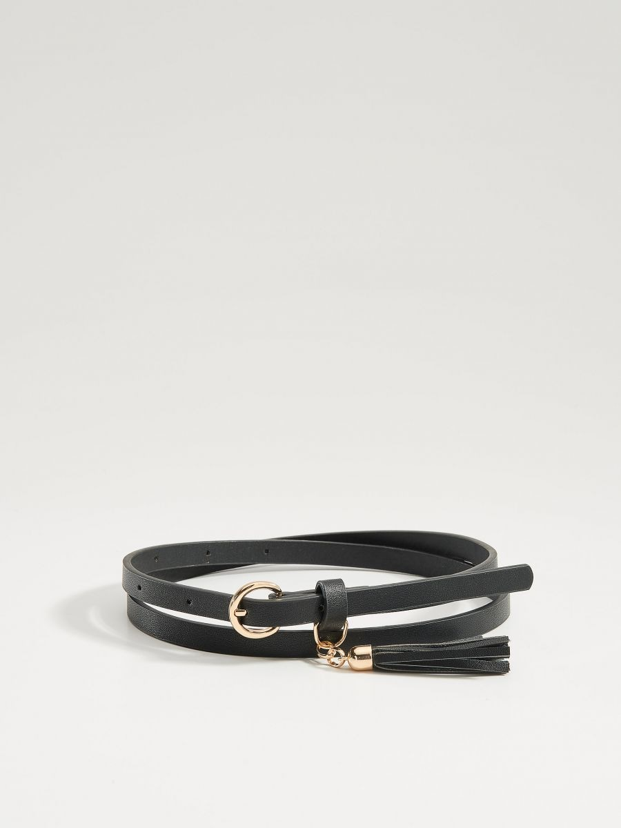 Belt with tassel detail - black - VS545-99X - Mohito - 2