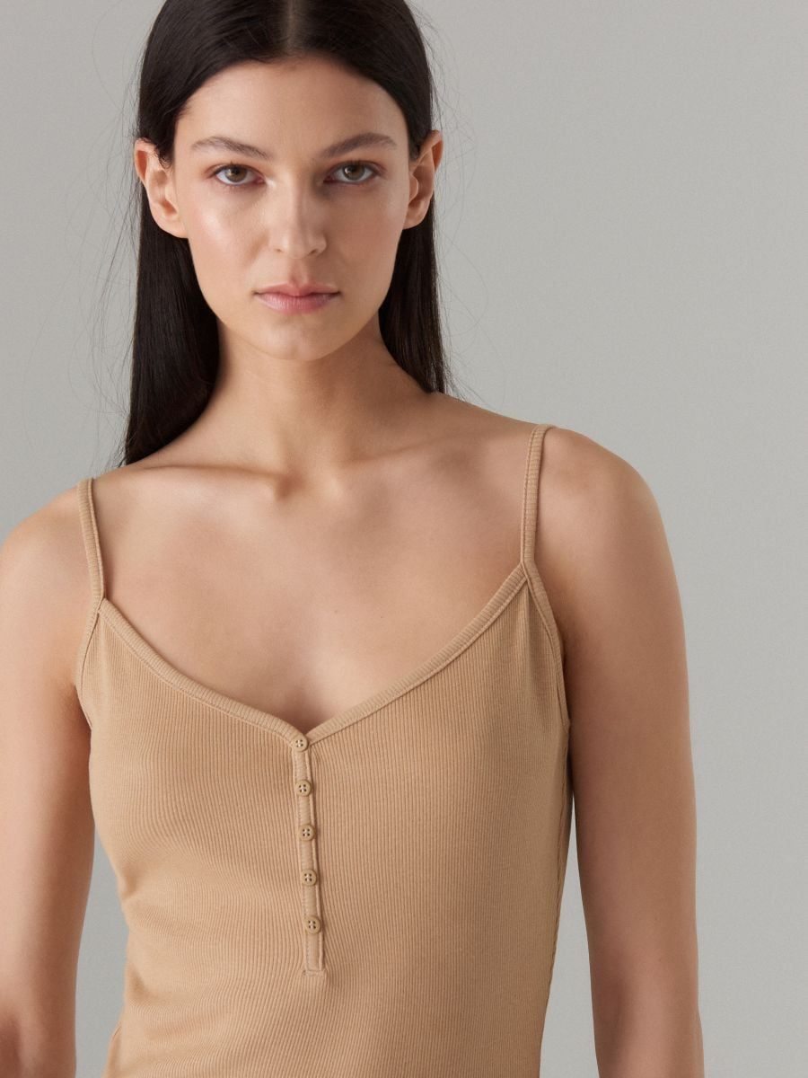 LADIES` DRESS - ivory - VV972-02X - Mohito - 2