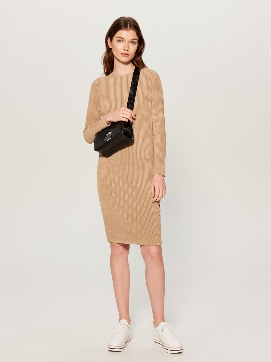 Fitted rib knit dress - ivory - VV974-02X - Mohito - 1