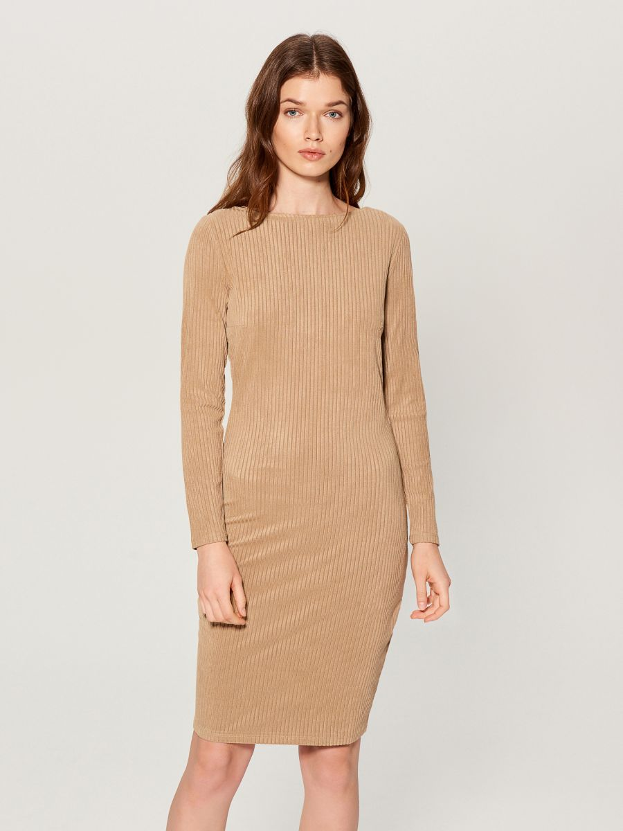Fitted rib knit dress - ivory - VV974-02X - Mohito - 2