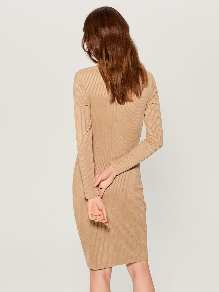 Fitted rib knit dress - ivory - VV974-02X - Mohito - 4