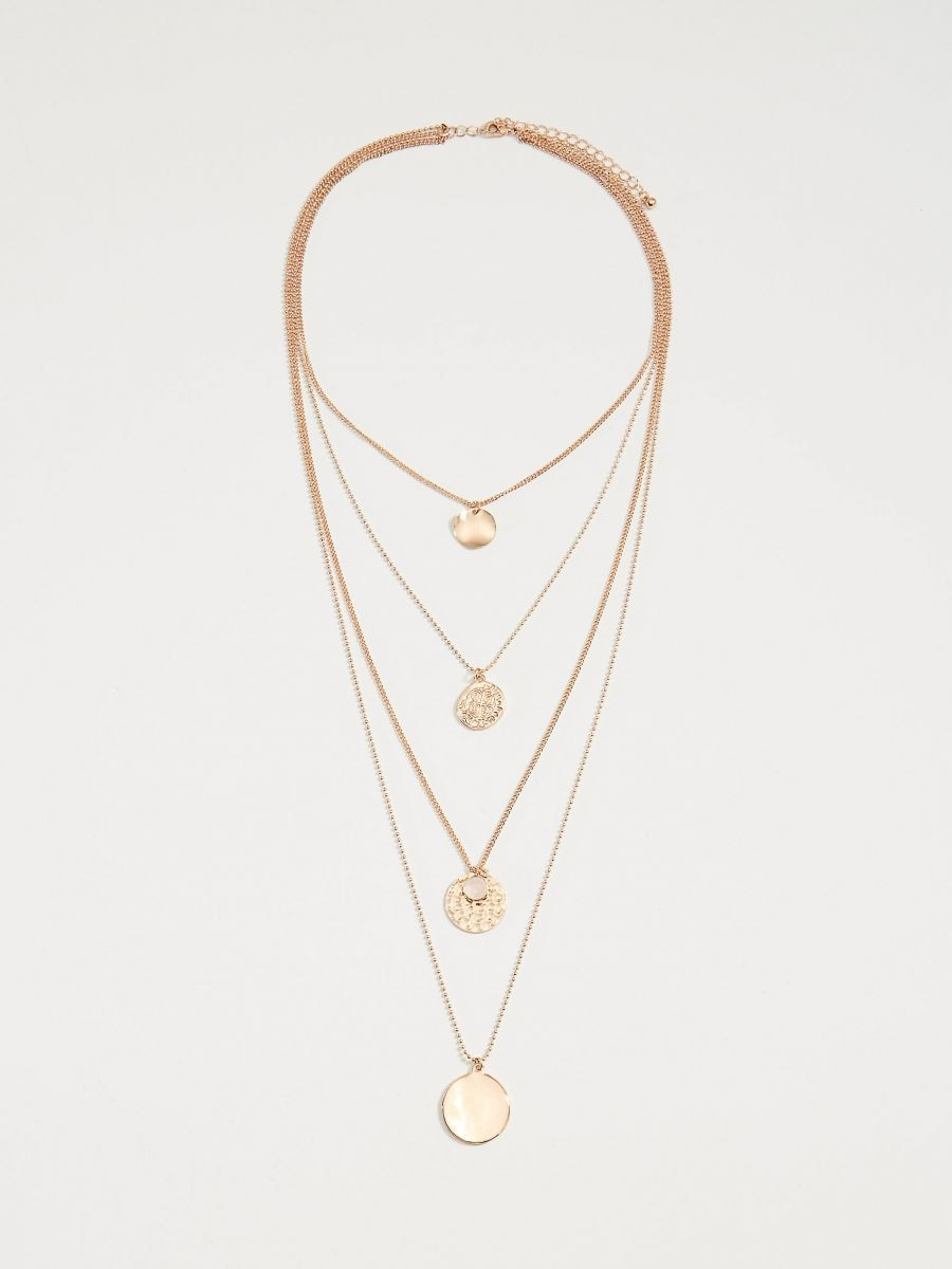 Layered necklace with pendants - golden - VX105-GLD - Mohito - 2