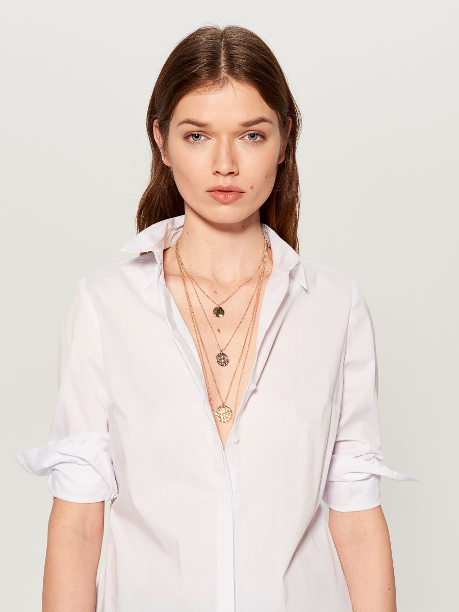 Layered necklace with pendants - golden - VX105-GLD - Mohito - 1