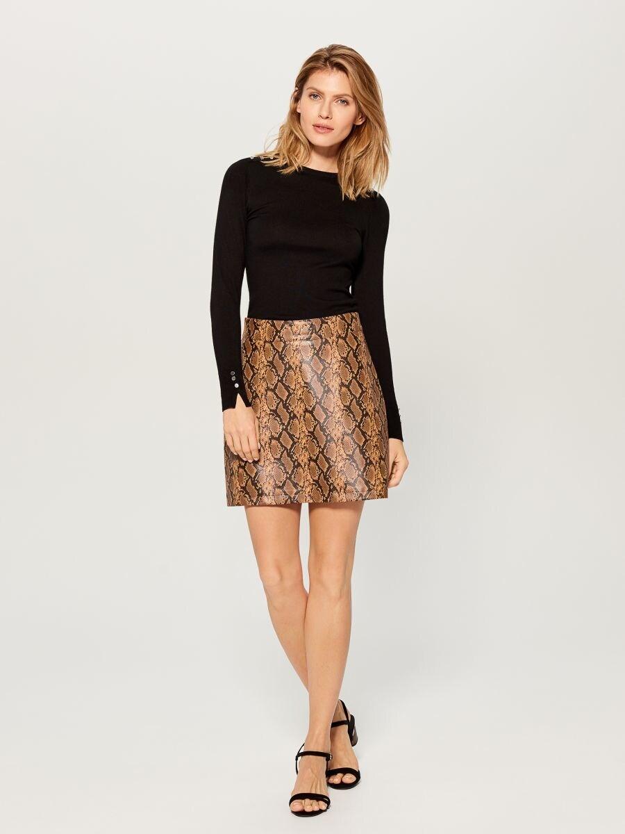 Snake print skirt  - multicolor - VY279-MLC - Mohito - 3