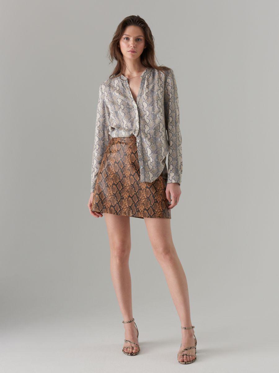 Snake print skirt  - multicolor - VY279-MLC - Mohito - 1