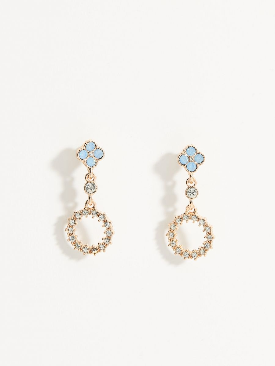 Long earrings with crystals - multicolor - VY360-MLC - Mohito - 2