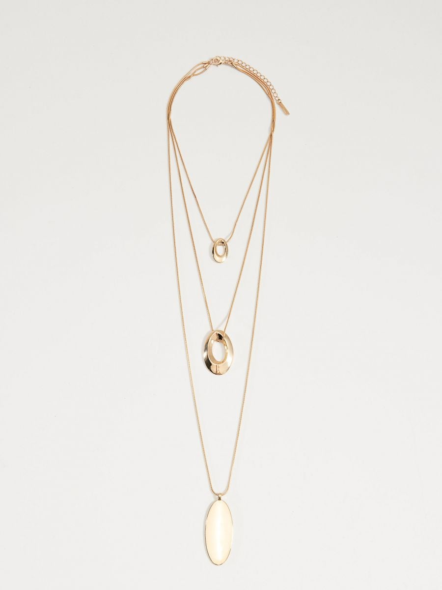 Layered necklace with pendants - golden - VY368-GLD - Mohito - 3