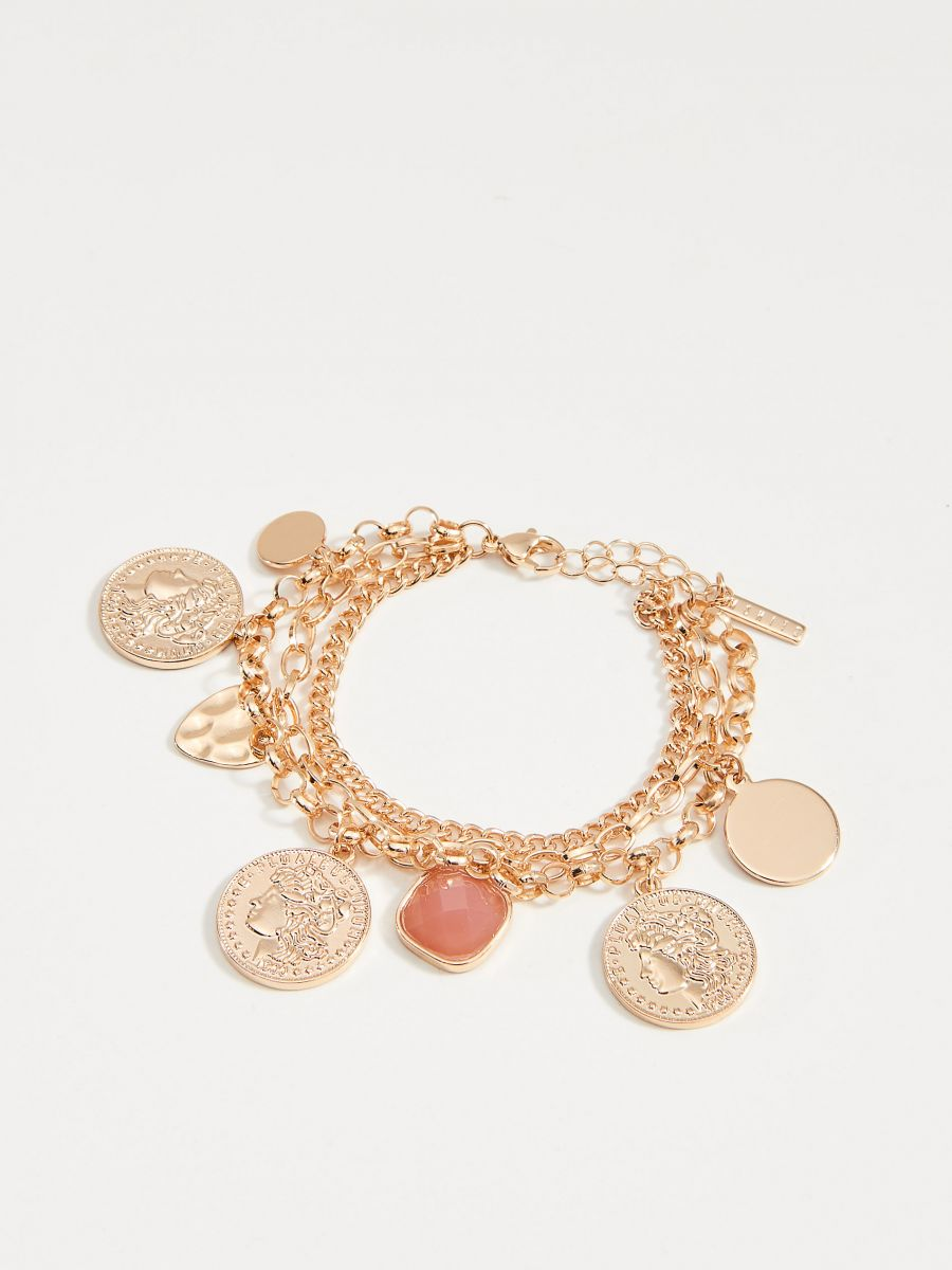 Bracelet with pendants - golden - VY758-GLD - Mohito - 3
