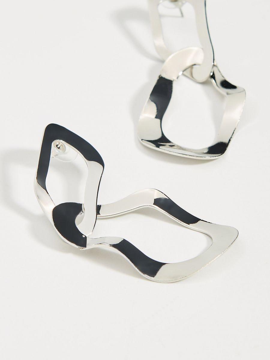 Irregular drop earrings  - silver - VY761-SLV - Mohito - 3