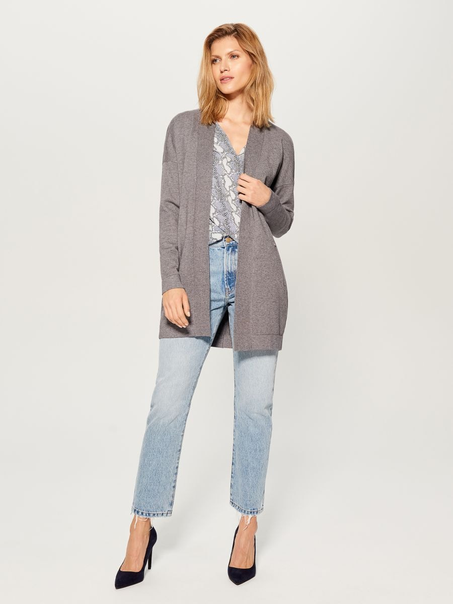 Long cardigan - grey - VZ337-90X - Mohito - 2