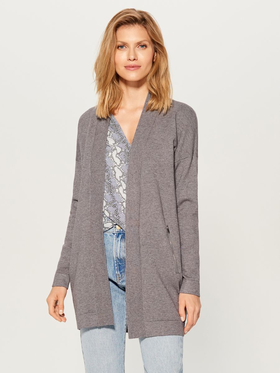 Long cardigan - grey - VZ337-90X - Mohito - 3