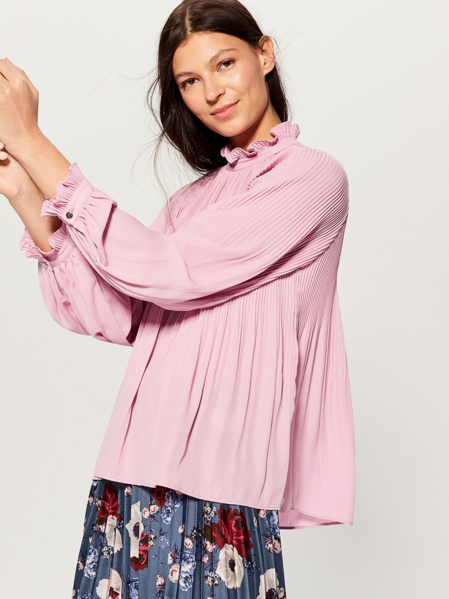 High neck blouse - pink - VZ669-40X - Mohito - 1