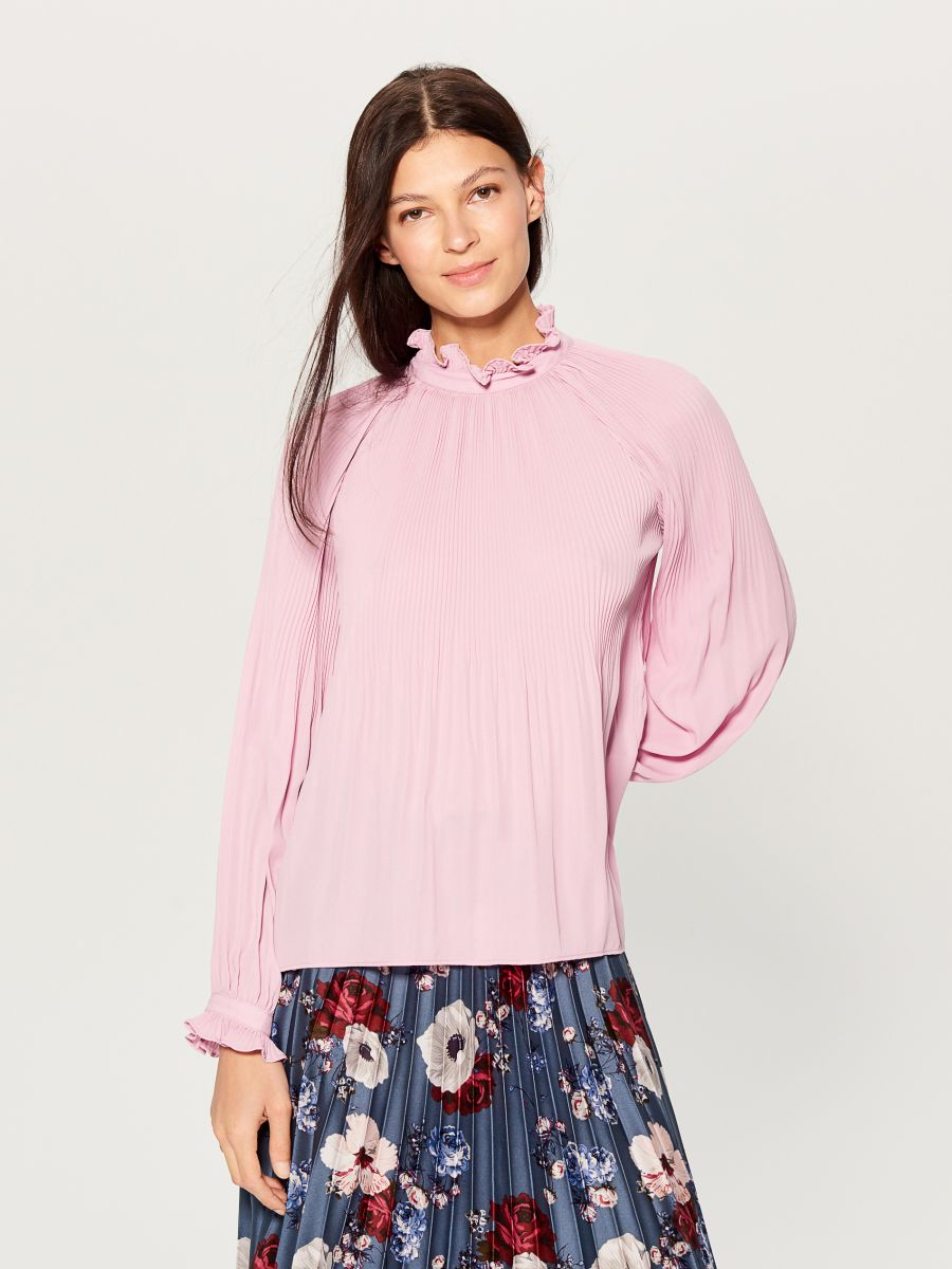 High neck blouse - pink - VZ669-40X - Mohito - 2
