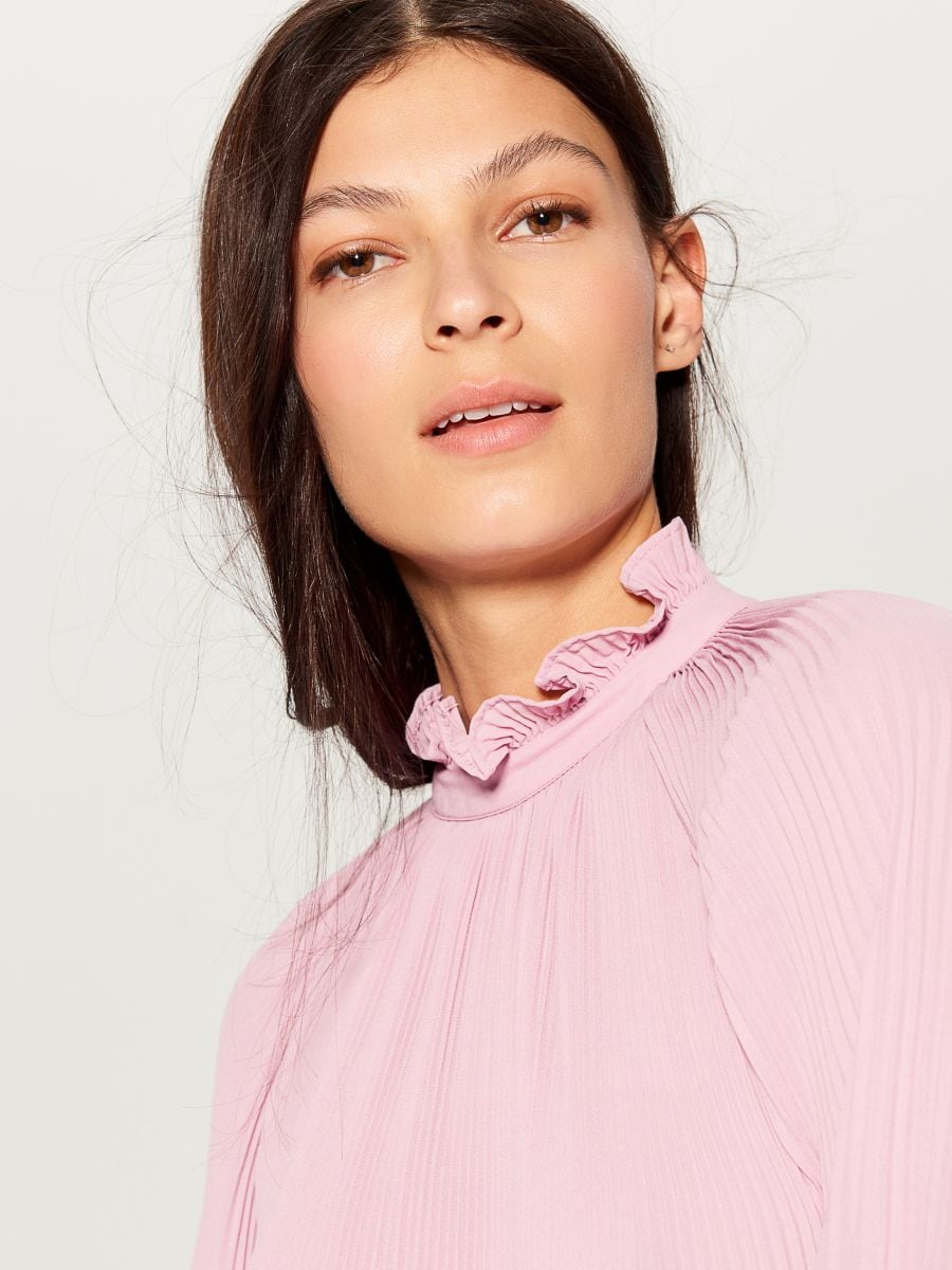 High neck blouse - pink - VZ669-40X - Mohito - 3